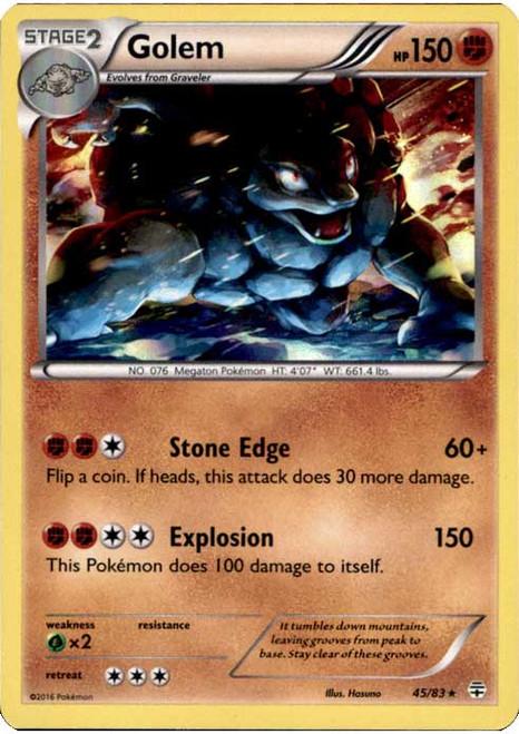 Pokemon X & Y Generations Rare Holo Golem #45
