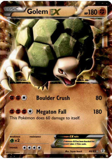 Pokemon X & Y Generations Ultra Rare Golem EX #46
