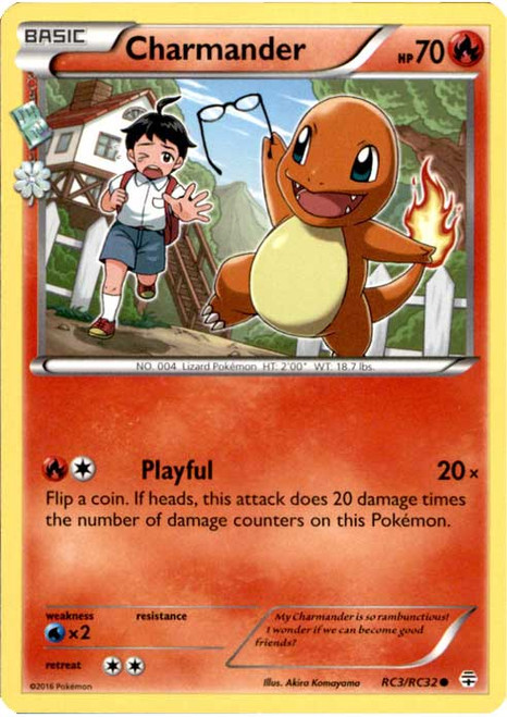 Pokemon X & Y Generations Radiant Collection Common Charmander RC3