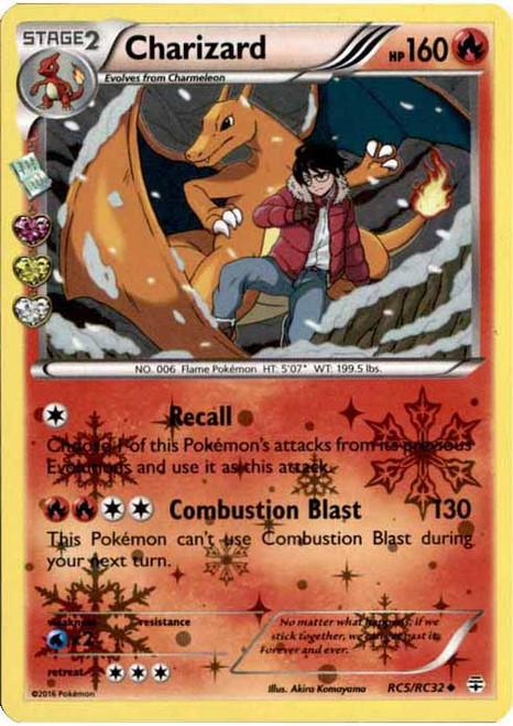 Pokemon X & Y Generations Radiant Collection Uncommon Charizard RC5
