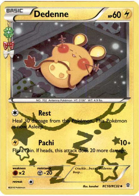 Pokemon X & Y Generations Radiant Collection Uncommon Dedenne RC10