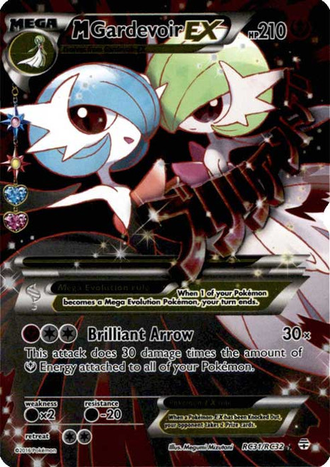 Pokemon X & Y Generations Radiant Collection Ultra Rare M Gardevoir EX RC31