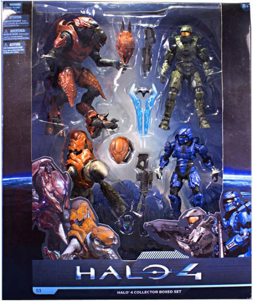 McFarlane Toys Halo 4 Series 1 Halo 4 Collector Boxed Set Exclusive Action Figure Set #1 [Damaged Package]