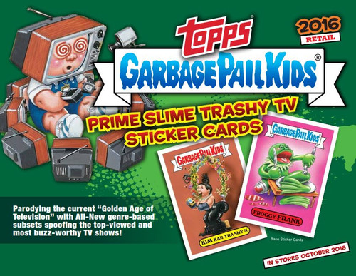 Garbage Pail Kids Topps 2016 Series 2 Trashy TV Trading Sticker Card RETAIL Box [16 Packs]