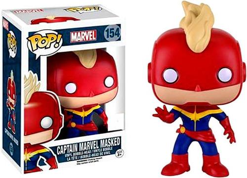 Funko POP! Marvel Captain Marvel Masked Exclusive Vinyl Bobble Head #154