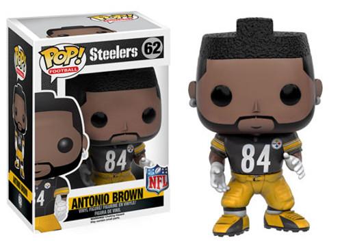 Funko NFL Pittsburgh Steelers POP! Sports Football Antonio Brown Vinyl Figure #62 [Black Jersey]