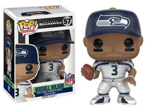Funko NFL Seattle Seahawks POP! Sports Football Russell Wilson Vinyl Figure #57 [White Uniform, Wearing Hat]