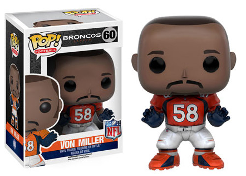 Funko NFL Denver Broncos POP! Sports Football Von Miller Vinyl Figure #60 [Orange Jersey]