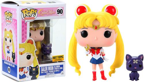 Funko POP! Animation Sailor Moon with Moon Stick & Luna Exclusive Vinyl Figure #90