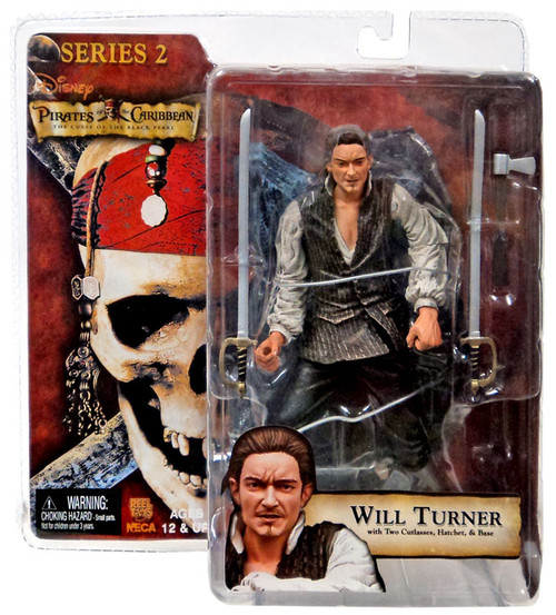 NECA Pirates of the Caribbean Dead Man's Chest Series 2 Will Turner Action Figure [Package shows Wear from storage]