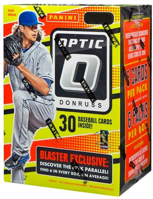 MLB Panini 2016 Donruss Optic Baseball Trading Card BLASTER Box [6 Packs, 6 Pink Parallels]
