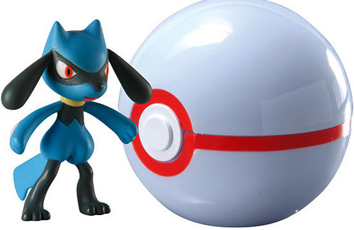 Pokemon Clip n Carry Pokeball Riolu with Premier Ball Figure Set