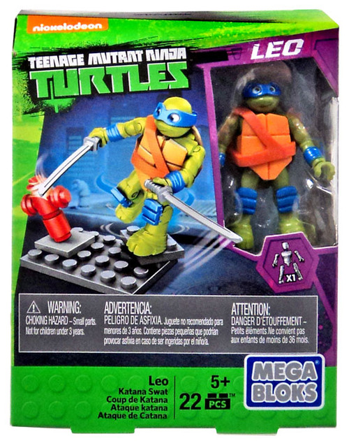 Mega Bloks Teenage Mutant Ninja Turtles Animation Leo Set #32714 [Katana Swat]
