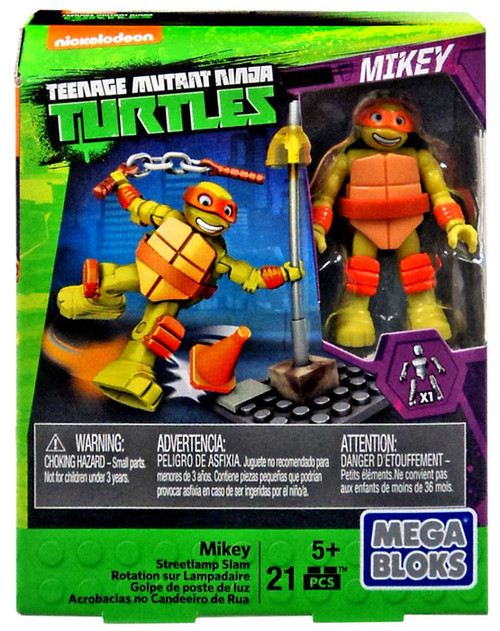 Mega Bloks Teenage Mutant Ninja Turtles Animation Mikey Set #32712 [Streetlamp Slam]