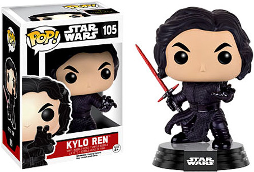 Funko The Force Awakens POP! Star Wars Kylo Ren (Battle Damage) Vinyl Bobble Head #105 [EP7]