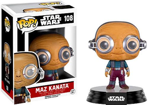 Funko The Force Awakens POP! Star Wars Maz Kanata Vinyl Bobble Head #108 [EP7]