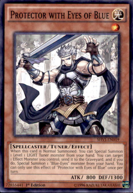 YuGiOh Shining Victories Common Protector with Eyes of Blue SHVI-EN019