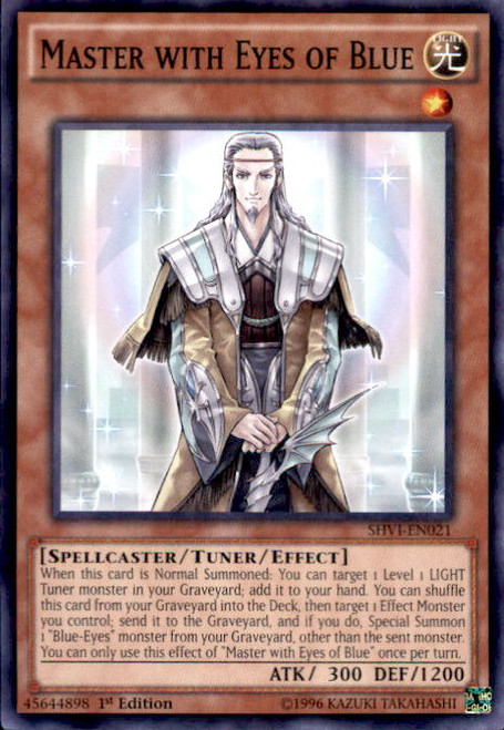 YuGiOh Shining Victories Common Master with Eyes of Blue SHVI-EN021