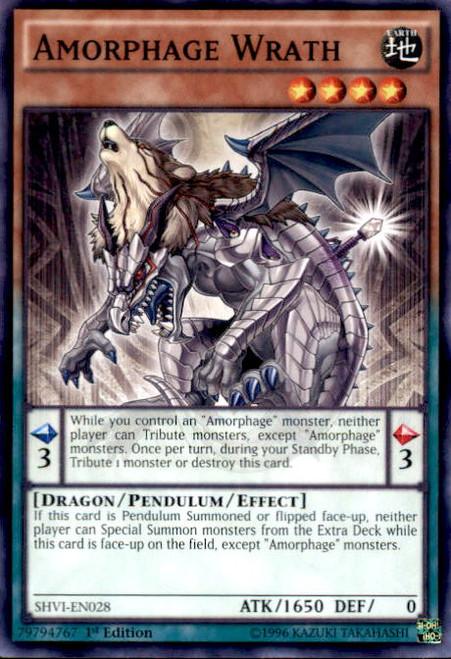 YuGiOh Shining Victories Common Amorphage Wrath SHVI-EN028