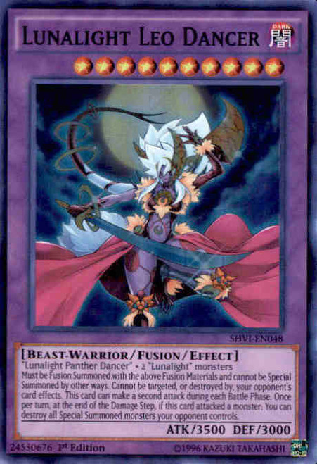 YuGiOh Shining Victories Super Rare Lunalight Leo Dancer SHVI-EN048