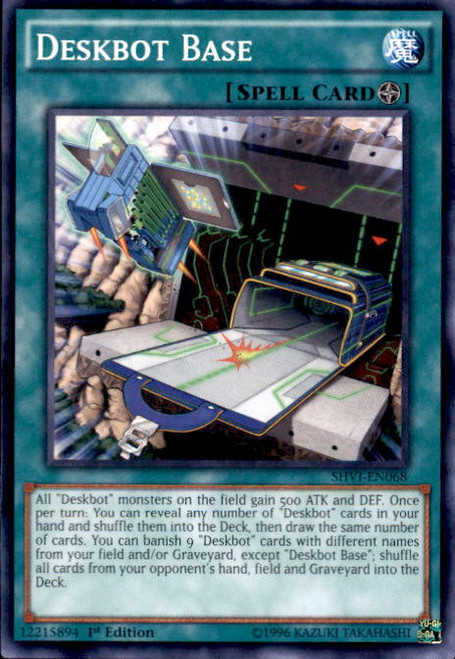 YuGiOh Shining Victories Common Deskbot Base SHVI-EN068
