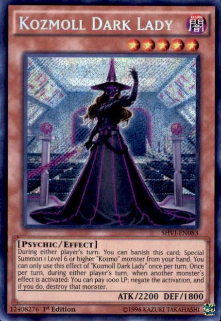 YuGiOh Shining Victories Secret Rare Kozmoll Dark Lady SHVI-EN083