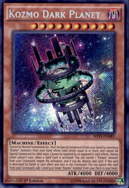 YuGiOh Shining Victories Secret Rare Kozmo Dark Planet SHVI-EN085