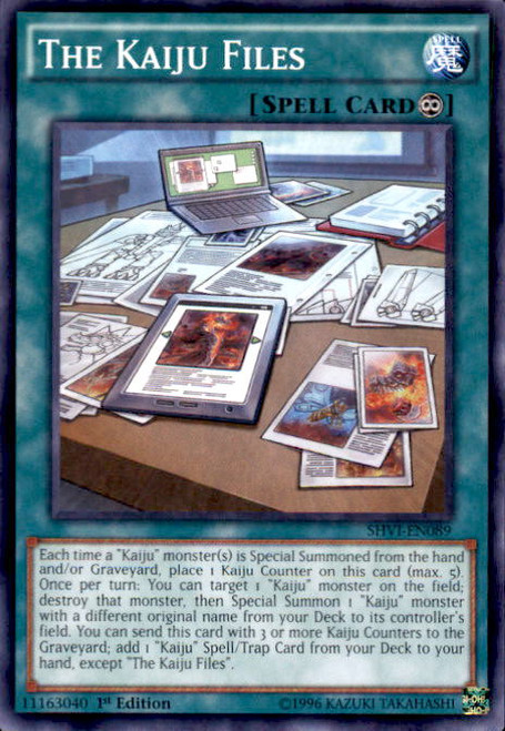 YuGiOh Shining Victories Common The Kaiju Files SHVI-EN089