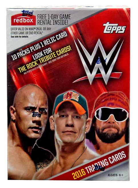 WWE Wrestling Topps 2016 Trading Card BLASTER Box [10 Packs + 1 Relic Card!]