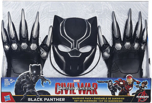Captain America Civil War Black Panther Warrior Pack Exclusive Roleplay Toy [Mask & Gloves]
