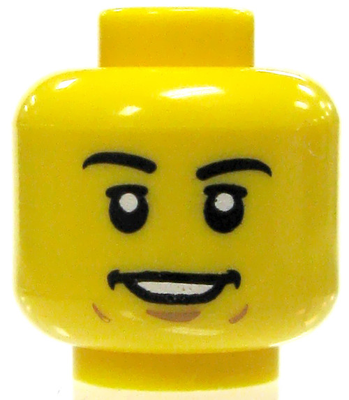 Yellow Male with Smile Showing Teeth Minifigure Head [Loose]