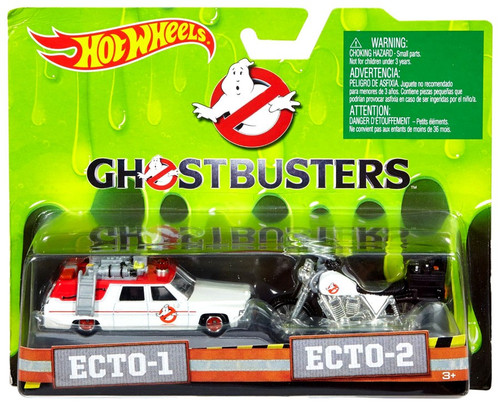 Hot Wheels Ghostbusters 2016 Movie Ecto-1 & Ecto-2 Diecast Car