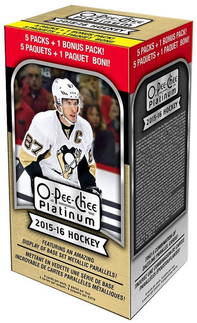 NHL 2015-16 O-Pee-Chee Platinum Hockey Trading Card BLASTER Box [6 Packs]