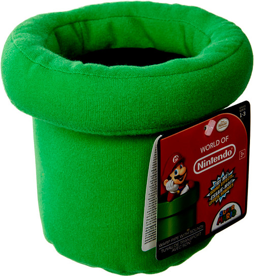 World of Nintendo Super Mario Warp Pipe 5-Inch Plush with Sound FX [SFX]