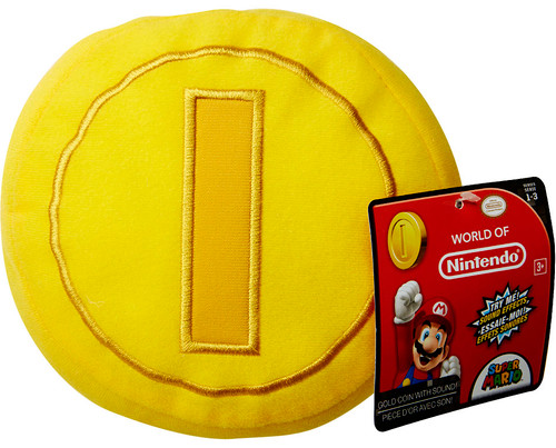 World of Nintendo Super Mario Gold Coin 5-Inch Plush with Sound FX [SFX]