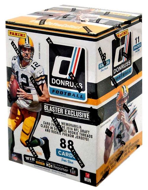 NFL Panini 2016 Donruss Football Trading Card BLASTER Box [11 Packs, 1 Memorabilia Card!]