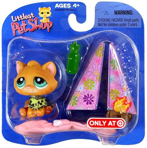 Littlest Pet Shop Orange Kitten with Bandana & Tent Exclusive Figure Pack