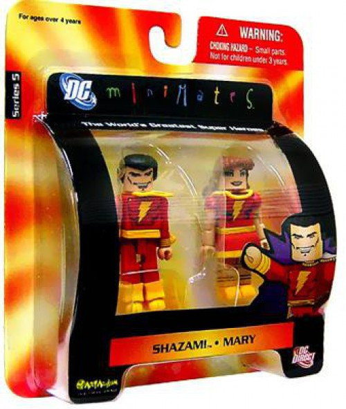 DC Minimates Series 5 Shazam! & Mary Marvel Minifigure 2-Pack