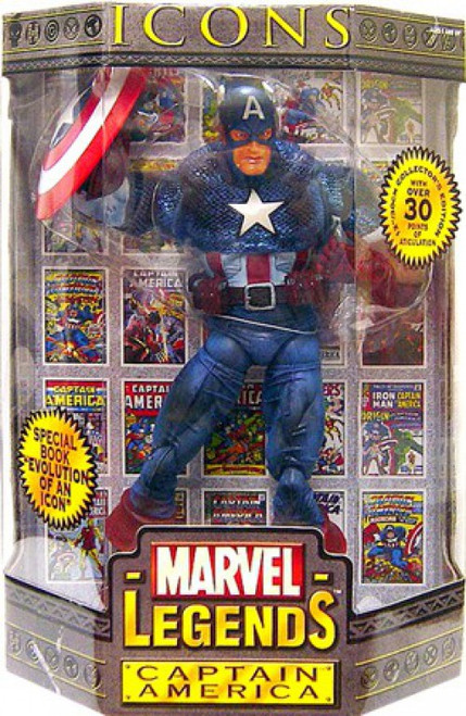 Icons Marvel Legends Captain America Deluxe Action Figure [Variant Mask]