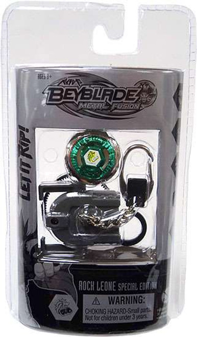 Beyblade Rock Leone Special Edition Chrome Keychain Figure