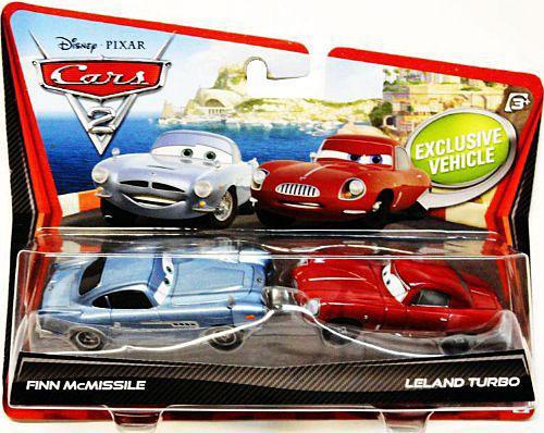 Disney / Pixar Cars Cars 2 Finn McMissile & Leland Turbo Diecast Car 2-Pack