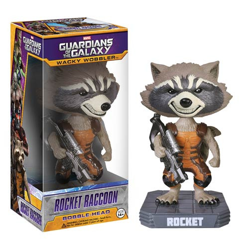 Funko Marvel Guardians of the Galaxy Wacky Wobbler Rocket Raccoon Bobble Head