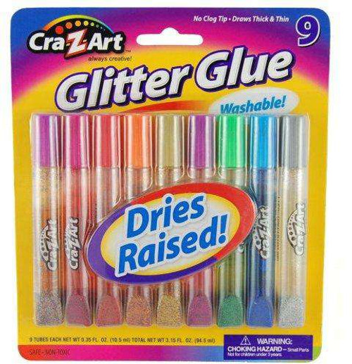 Cra-Z-Art Gliiter Glue 9-Pack #11300