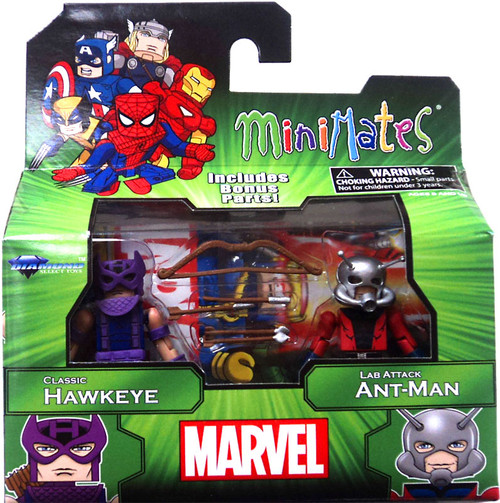 Marvel Minimates Best of Series 3 Classic Hawkeye & Lab Attack Ant Man 2-Inch Minifigure 2-Pack