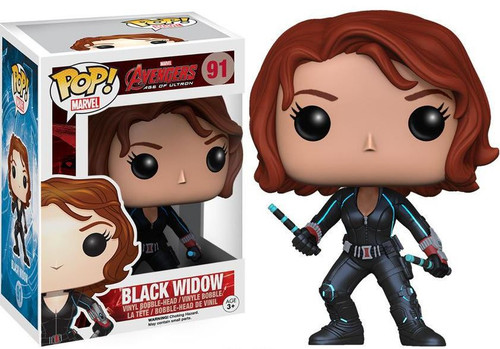 Funko Avengers Age of Ultron POP! Marvel Black Widow Vinyl Figure #91 [Damaged Package, Mint Figures]