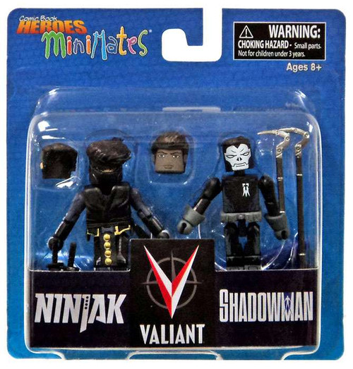 Valiant Comic Book Heroes Minimates Ninjak & Shadowman 2-Inch Minifigure 2-Pack