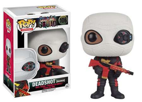 Funko Suicide Squad POP! Movies Deadshot Vinyl Figure #106 [MASKED]