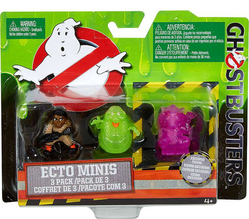 Ghostbusters 2016 Movie Ecto Minis Patty, Slimer & Rat Ghost 2-Inch Mini Figure 3-Pack