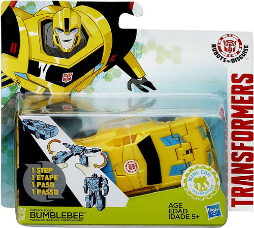 Transformers Robots in Disguise 1 Step Changers Energon Boost Bumblebee Action Figure