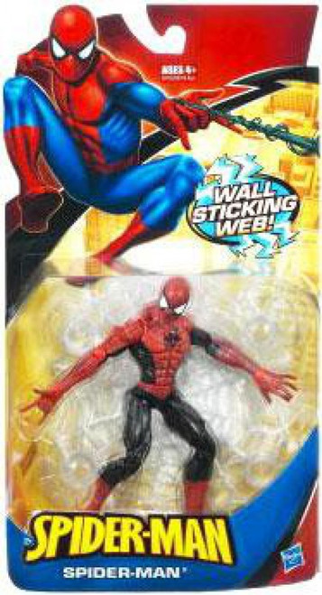 Classic Heroes Spider-Man Action Figure [Wall Sticking Web Red & Black, Damaged Package]